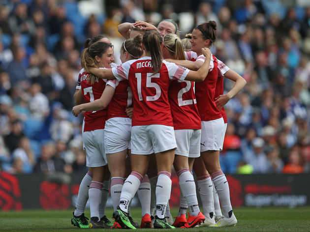 Arsenal Clinch Women S Super League Title With 4 0 Win Over