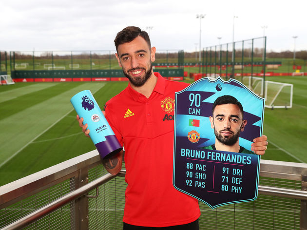Bruno Fernandes is Presented with the Premier League Player of the Month for February