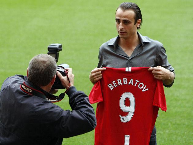 Bulgaria striker Dimitar Berbatov is pho