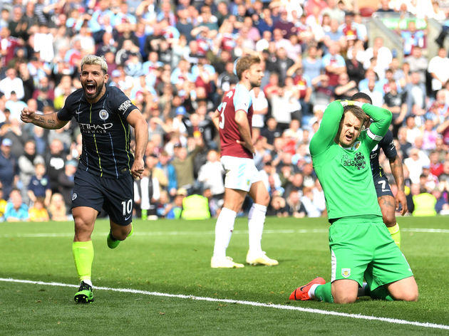 Sergio Aguero,Tom Heaton