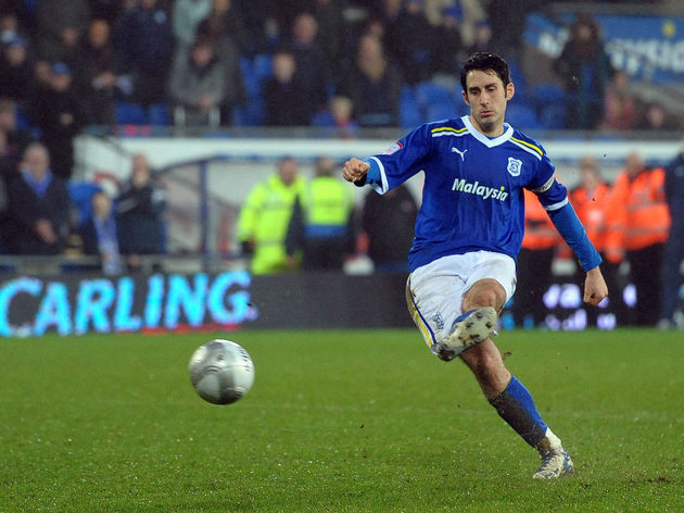 Cardiff City's Peter Whittingham kicks t