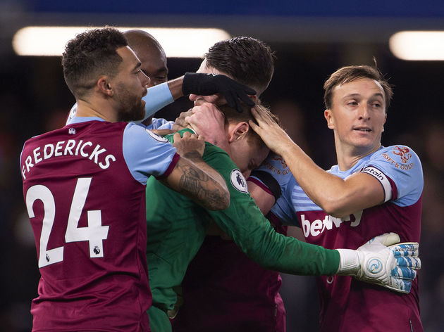 David Martin,Ryan Fredericks,Declan Rice,Mark Noble