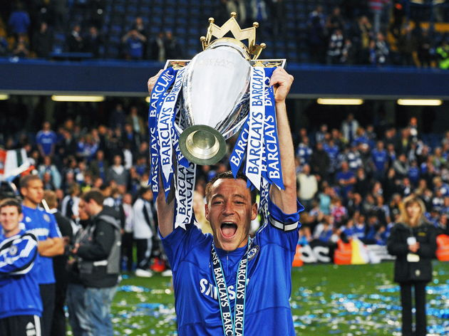 Chelsea's captain John Terry celebrates