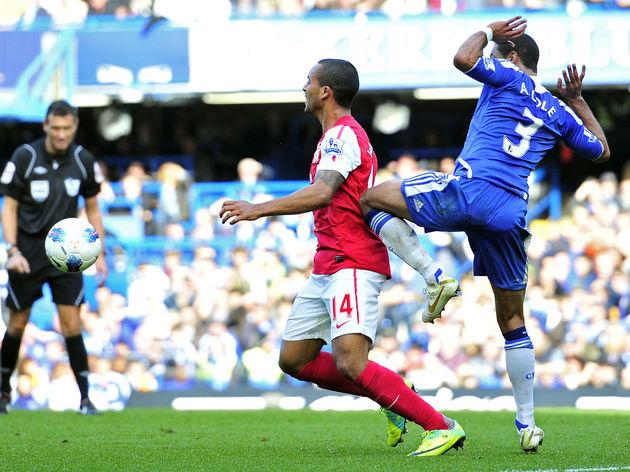Chelsea's English defender Ashley Cole (