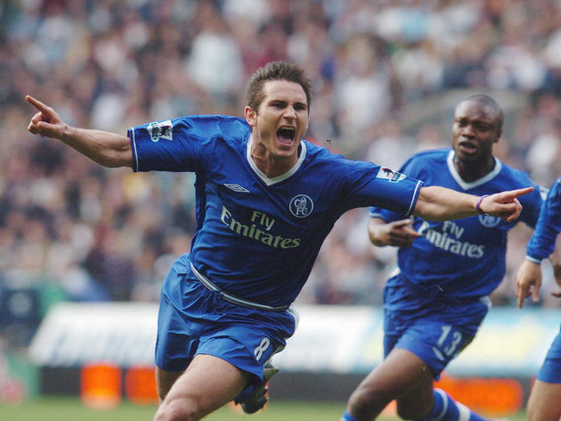 Chelsea's Frank Lampard celebrates after