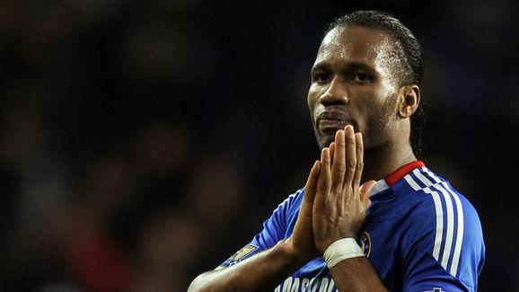 Chelsea's Ivorian Didier Drogba gestures