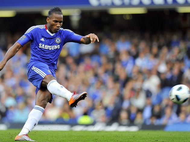 Chelsea's Ivorian striker Didier Drogba