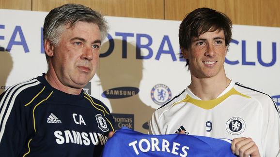 Chelsea's new signing, Spanish striker F
