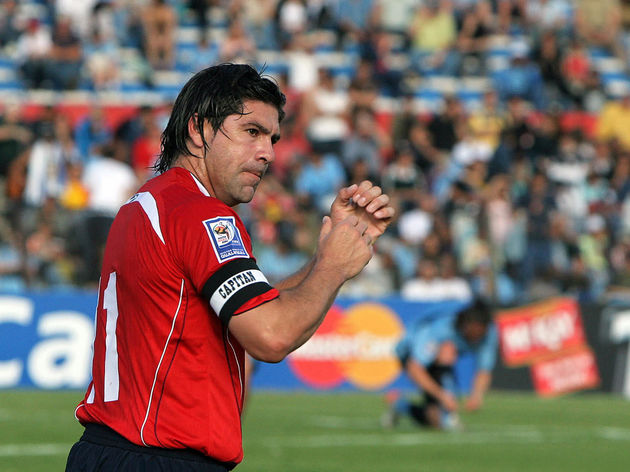 Chilean Marcelo Salas (L) celebrates his