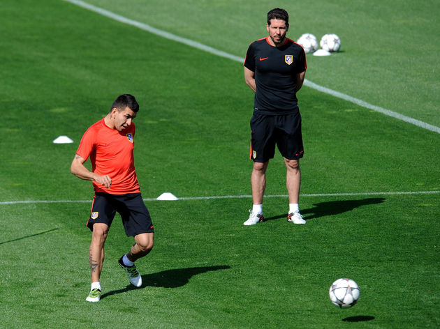 Club Atletico de Madrid Training Session