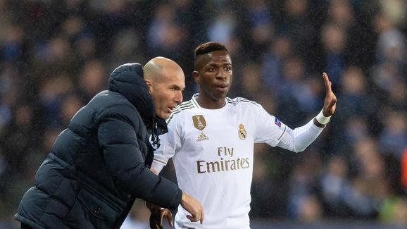 Zinedine Zidane,Vinicius Junior