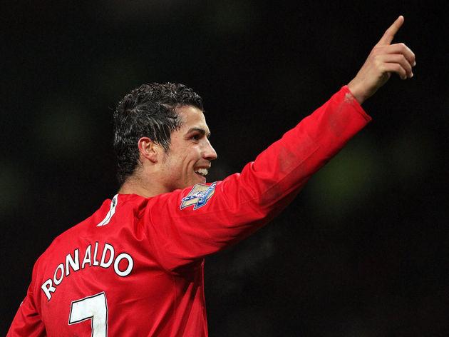 Cristiano Ronaldo of Manchester United c