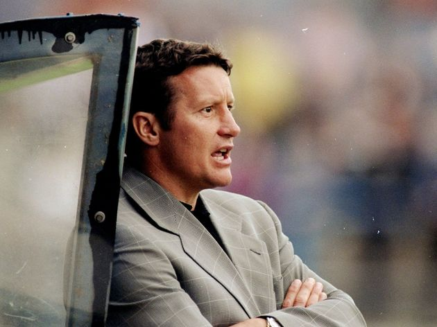 Danny Wilson, manager to Sheffield Wednesday watches the action