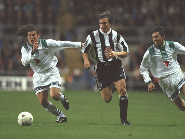 David Ginola in action