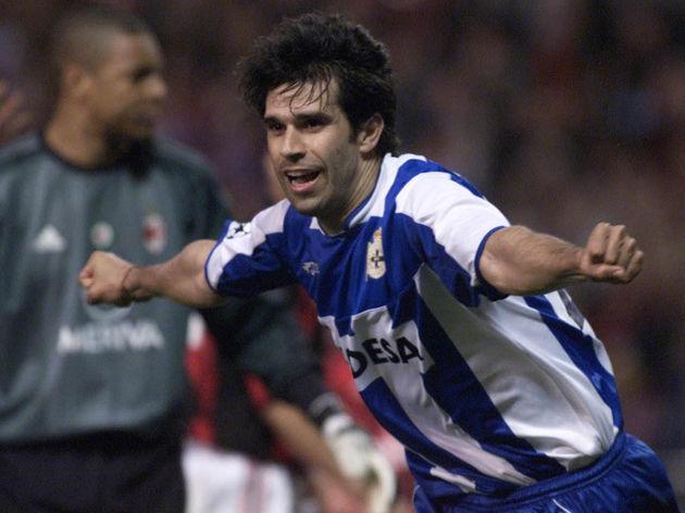 Deportivo Coruna's player Juan Valeron c