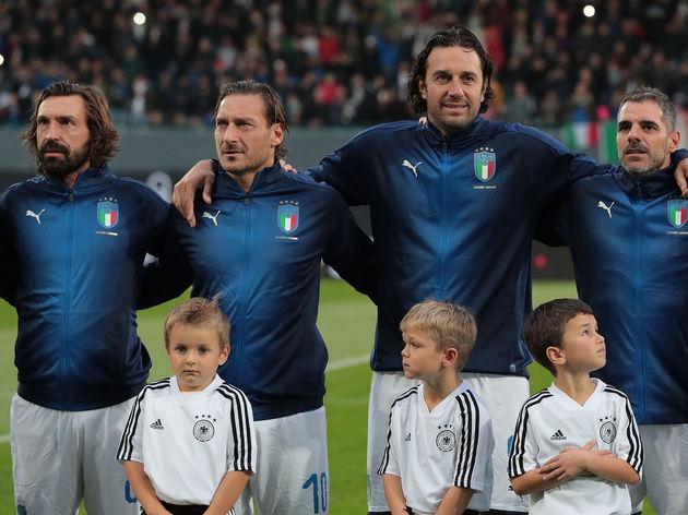 Andrea Pirlo,Francesco Totti,Luca Toni,Simone Perrotta,Bruno Conti