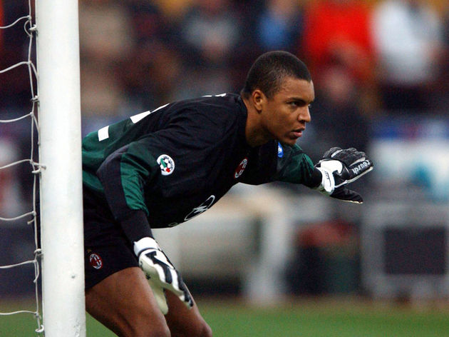 Dida of AC Milan in action
