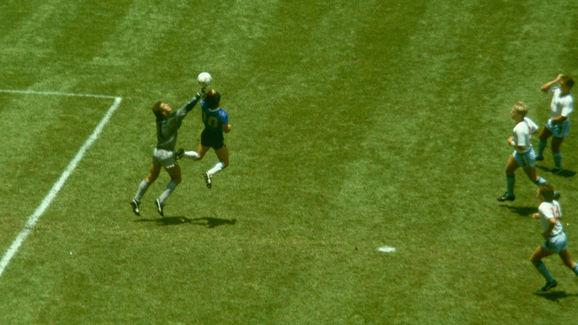 Diego Maradona,Peter Shilton