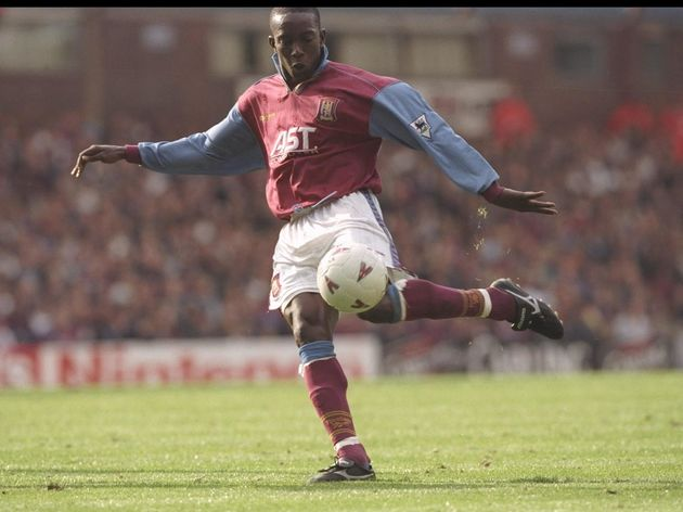 Dwight Yorke of Aston Villa in action