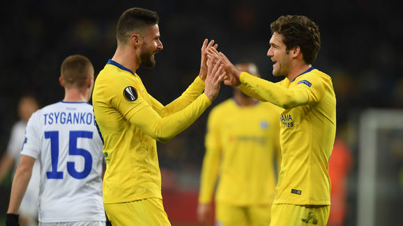 Olivier Giroud,Marcos Alonso