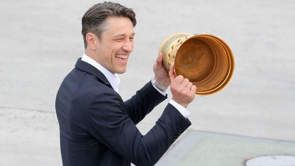 Eintracht Frankfurt Celebrate Winnning The DFB Cup