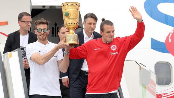 Eintracht Frankfurt Celebrates Winnning The DFB Cup