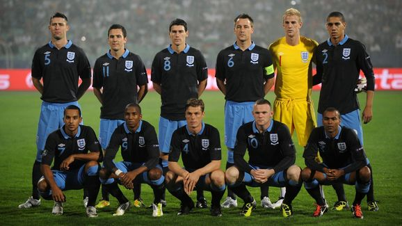 England's team pose for photographers pr