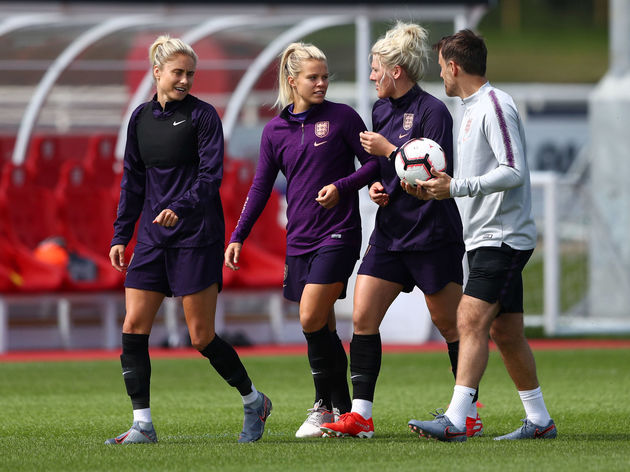 Steph Houghton,Rachael Daly,Millie Bright,Phil Neville