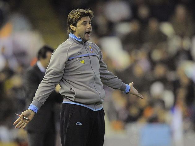 Espanyol's Argentinian coach Mauricio Po