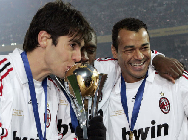 European champion AC Milan forward Kaka