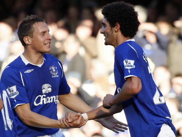 Everton's Belgian midfielder Marouane Fe