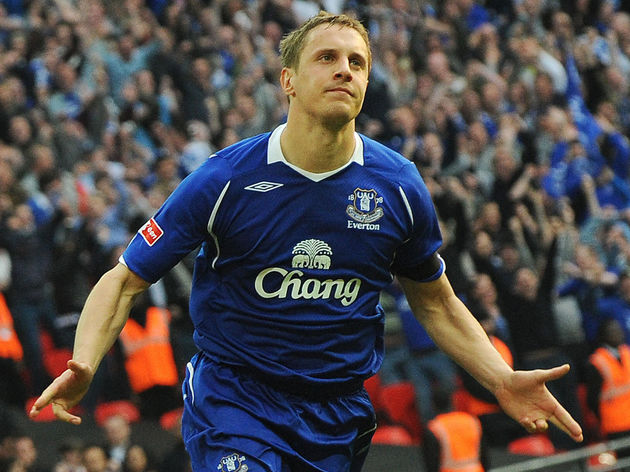 Everton's English defender Phil Jagielka