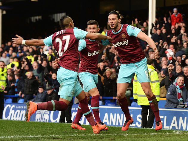 Aaron Cresswell,Dimitri Payet,Andy Carroll