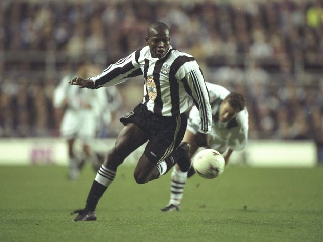 Faustino Asprilla of Newcastle in action