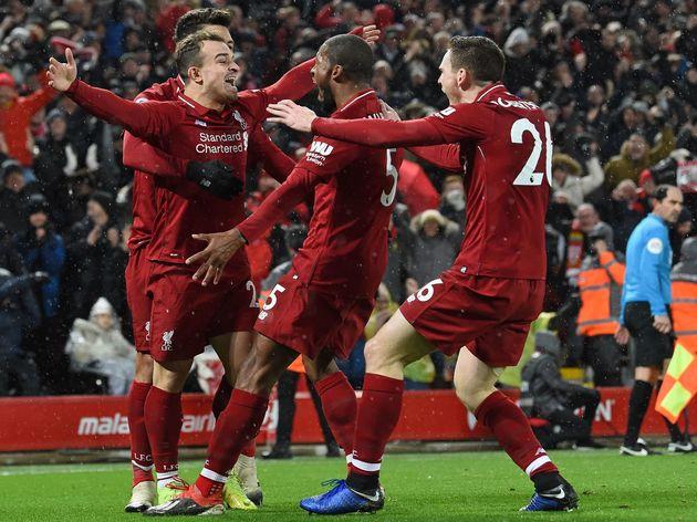 Liverpool 3 1 Man Utd Report Ratings Reaction As Super Sub Shaqiri Sends Liverpool Back To Top 90min