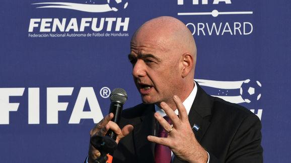 FBL-HONDURAS-FIFA-INFANTINO