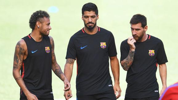 FBL-US-BARCELONA FC-JUVENTUS FC-TRAINING