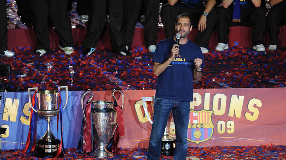 FC Barcelona's head coach Pep Guardiola