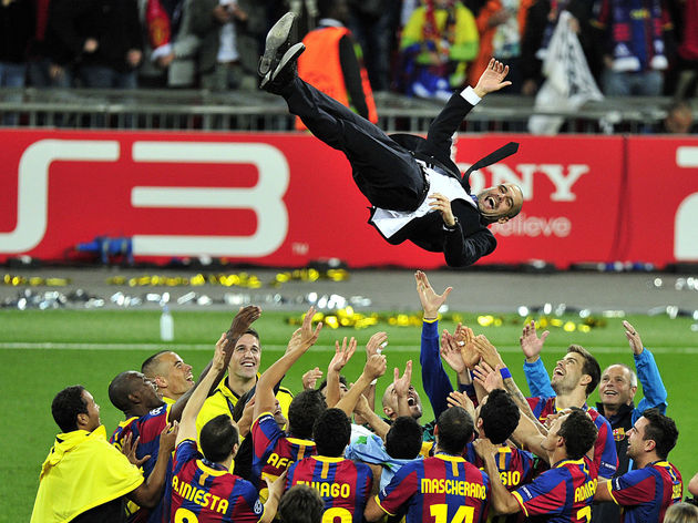 FC Barcelona's Spanish coach Josep Guard