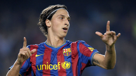 FC Barcelona's Swedish forward Zlatan Ib