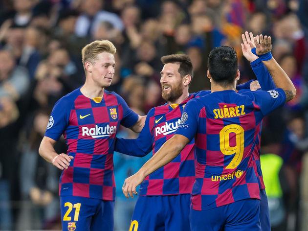 Frenkie de Jong,Lionel Messi,Antoine Griezmann,Luis Suarez