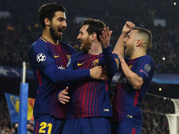 Lionel Messi,Jordi Alba,Andre Gomes