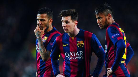 Dani Alves,Lionel Messi,Neymar