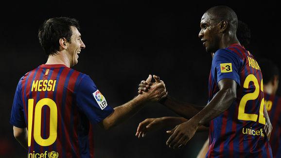 Lionel Messi,Eric Abidal