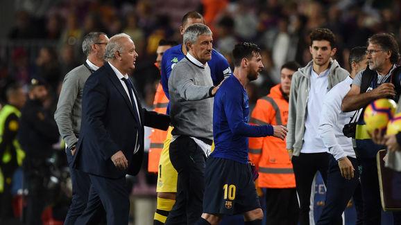 Lionel Messi,Quique Setien