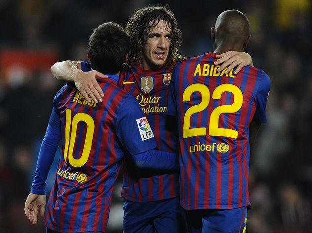 Lionel Messi,Carles Puyol,Eric Abidal