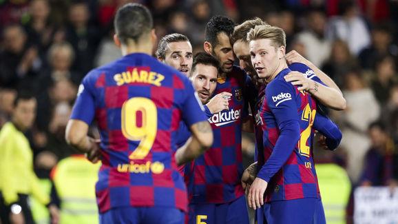 Antoine Griezmann,Frenkie De Jong,Ivan Rakitic,Lionel Messi
