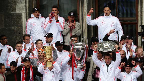 Jupp Heynckes,Franck Ribery,Arjen Robben,Bastian Schweinsteiger,Manuel Neuer