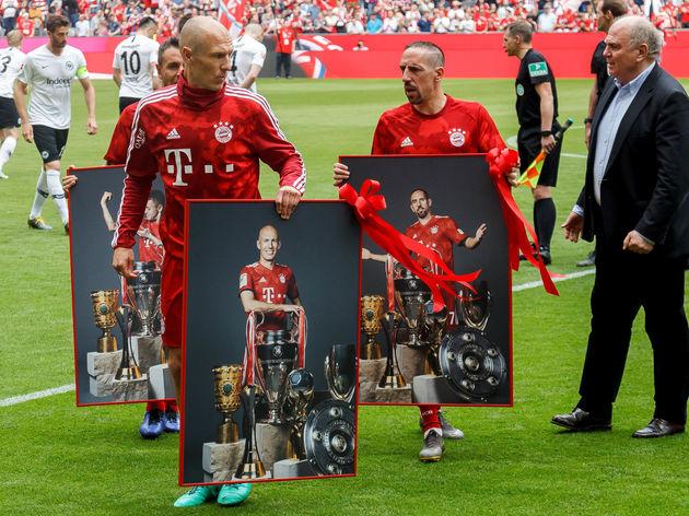Arjen Robben,Rafinha,Franck Ribery,Uli Hoeness