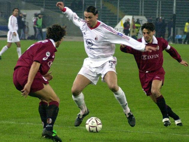 Fernando Redondo of AC Milan in action